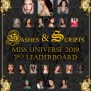 Sashes Scripts 3rd Leaderboard For Miss Universe 2019