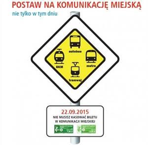 2015-09-22: Europejski Dzień bez Samochodu – darmowa komunikacja miejska