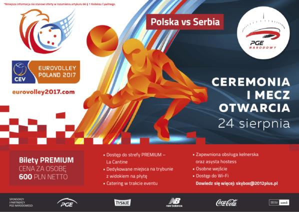2017-08-24: mecz otwarcia Mistrzostw Europy w piłce siatkowej mężczyzn – EUROVOLLEY POLAND 2017