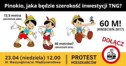 2017-04-23: protest/spotkanie dot. tramwaju na Gocław