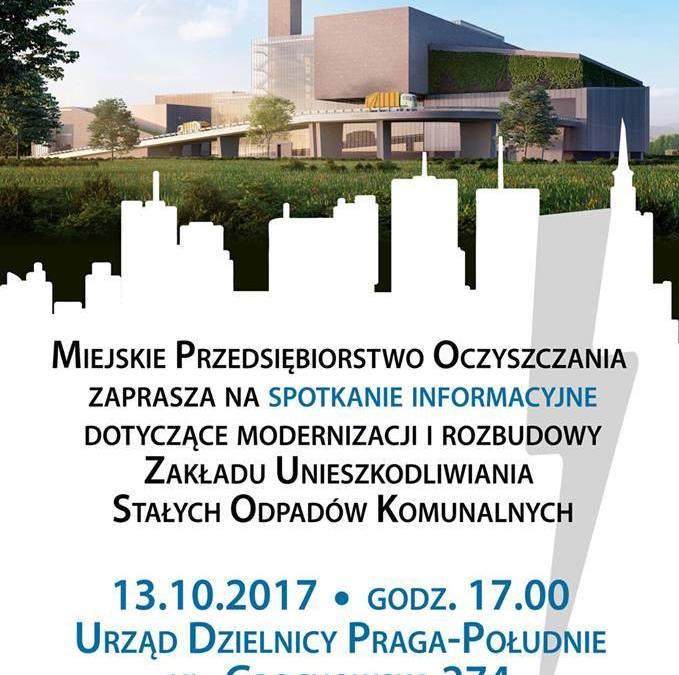 2017-10-13: spotkanie informacyjne dot. rozbudowy i modernizacji Zakładu Unieszkodliwiania Stałych Odpadów Komunalnych