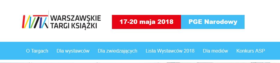 2018-05-17 do 20: Warszawskie Targi Książki