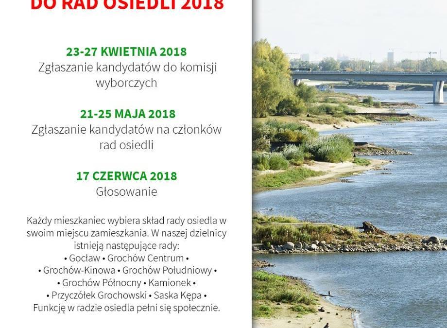 2018-04-27: zgłaszanie kandydatów do komisji wyborczej – wybory Rady Osiedla Saska Kępa