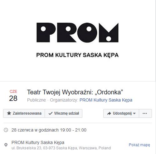 """2018-06-28:  Teatr Twojej Wyobraźni: """"Ordonka"""" (Antoni Winch i Dariusz Błaszczyk)"""