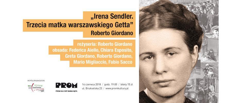 """2018-06-14:  ,,Irena Sendler. Trzecia matka warszawskiego Getta"""" Roberto Giordano"""
