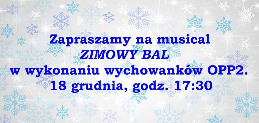 """2018-12-18: musical """"Zimowy Bal"""" w Jordanku"""