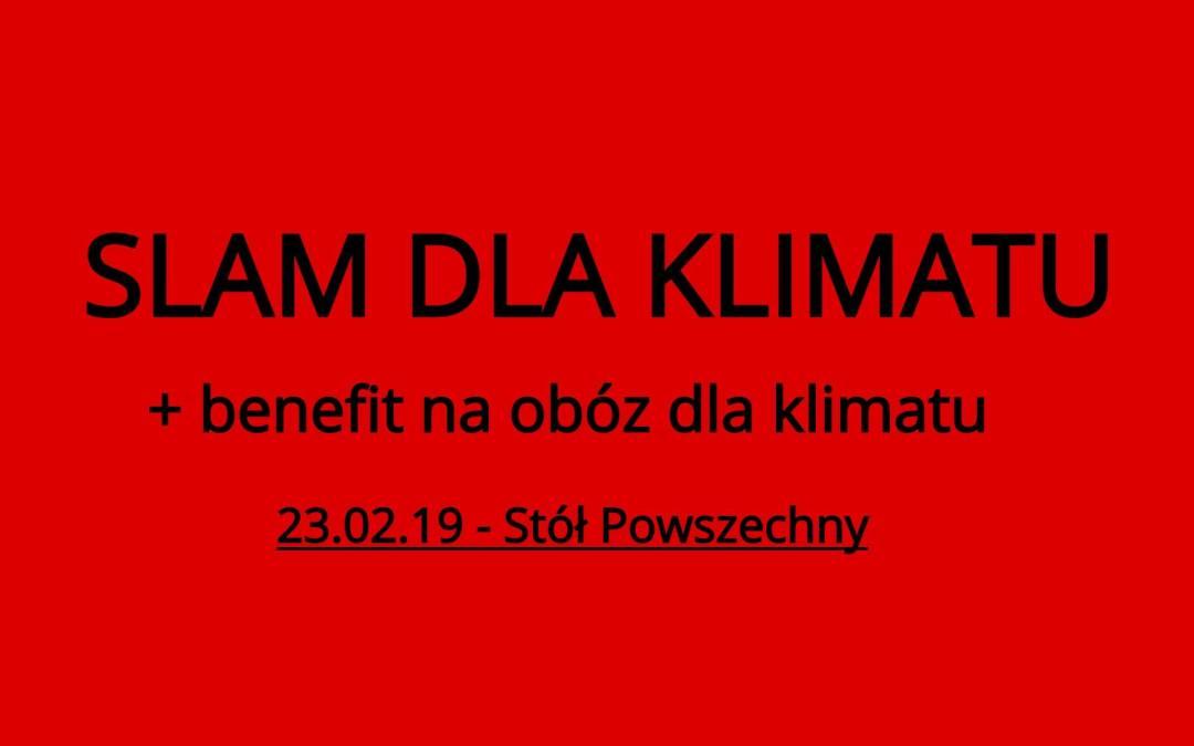 2019-02-23: Slam dla klimatu + benefit