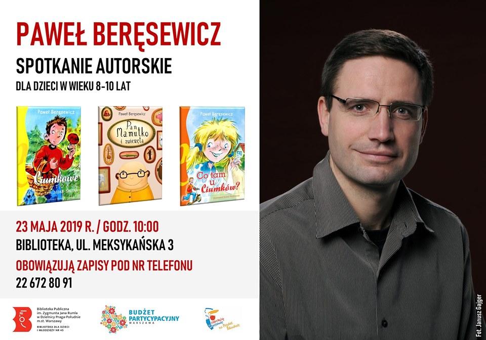 2019-05-23: Spotkanie autorskie z Pawłem Beręsewiczem