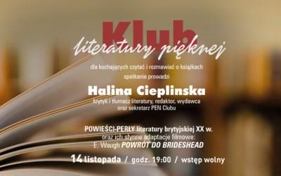 2019-11-14: Klub Literatury Pięknej