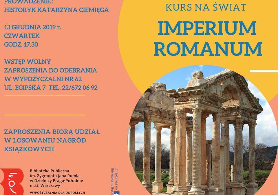 2019-12-13: Spotkanie Imperium Romanum. Wszyscy jesteśmy Rzymianami