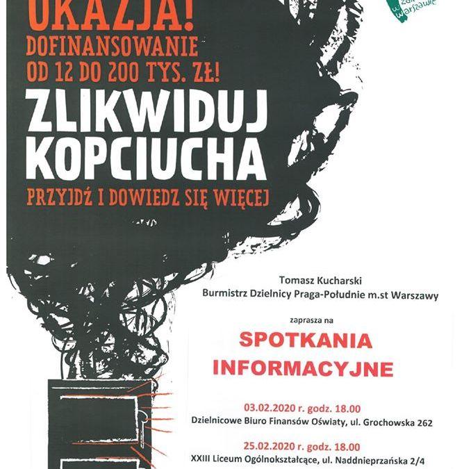 """2020-03-12: """"Zlikwiduj kopciucha!"""" – spotkanie informacyjne"""