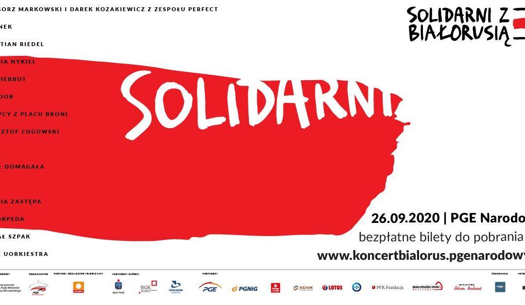 "2020-09-26: koncert ""Solidarni z Białorusią"""