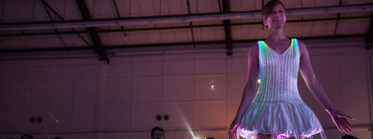 Wearable light dress