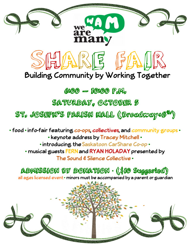 We Are Many - Share Fair - October 5, 2013