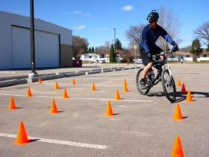 slow speed bike skills on the Bike SAR course
