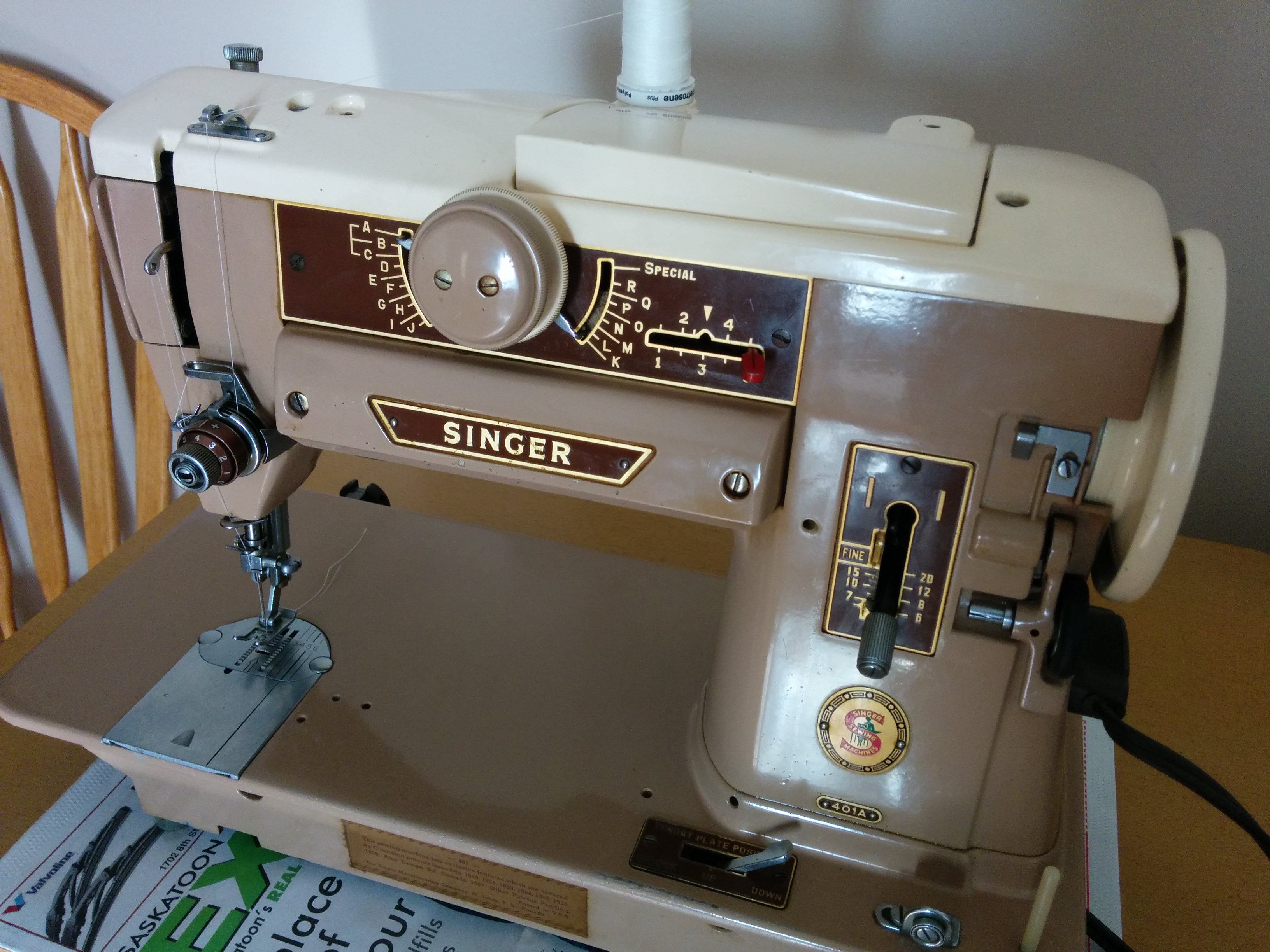 singer 401a stitch diagram fisher plow wiring dodge vintage new is not always better stitching in saskatoon