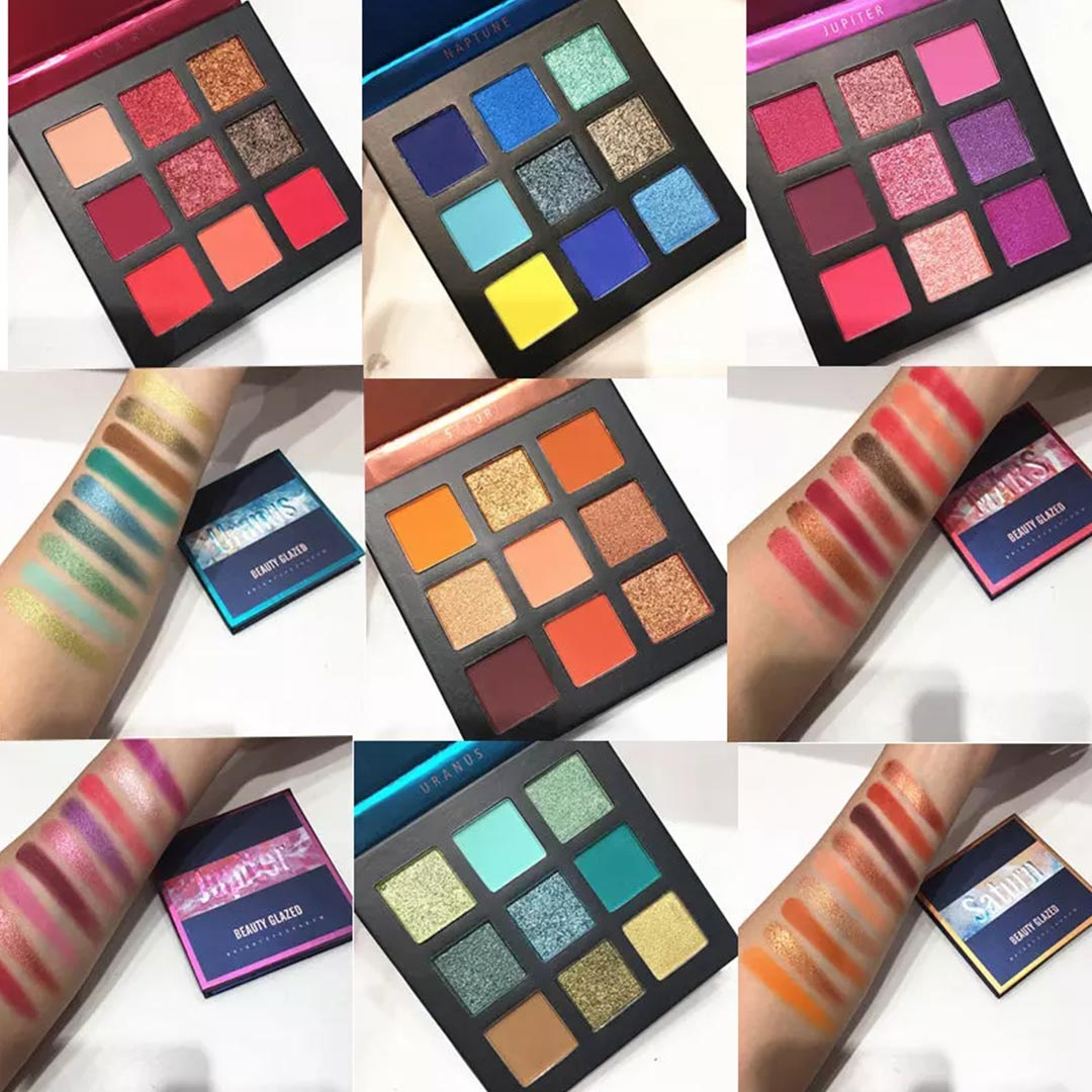 Beauty Glazed Eyeshadow Mini Palettes 'Planet' 5 Colour Themes
