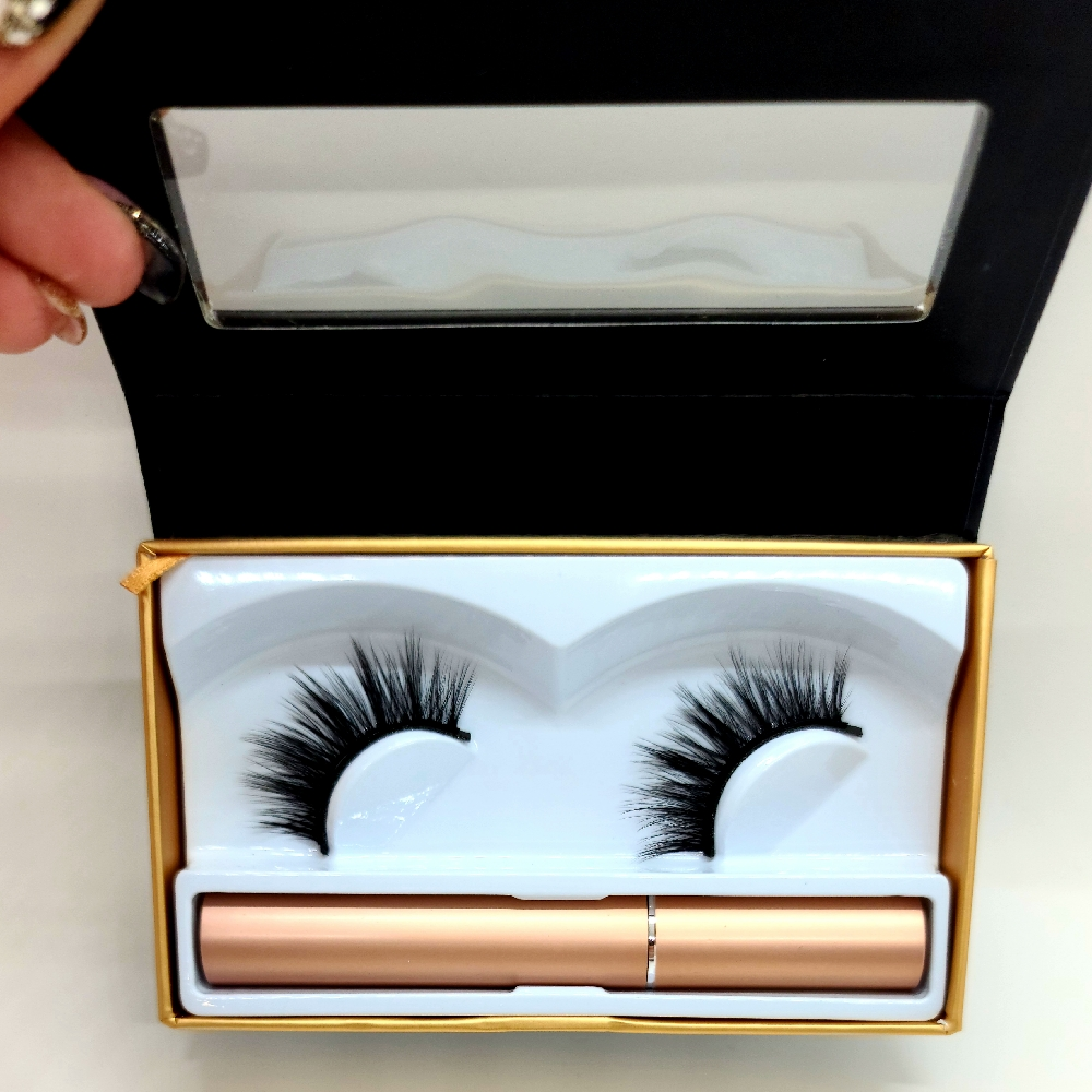 Magnetic Lashes Kit- One Pair With Liner – #012