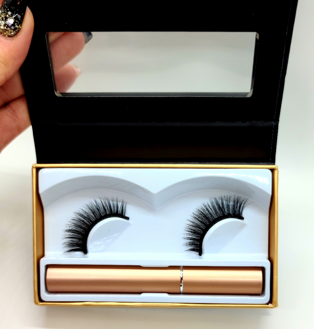 Magnetic Lashes Kit- One Pair With Liner – #025
