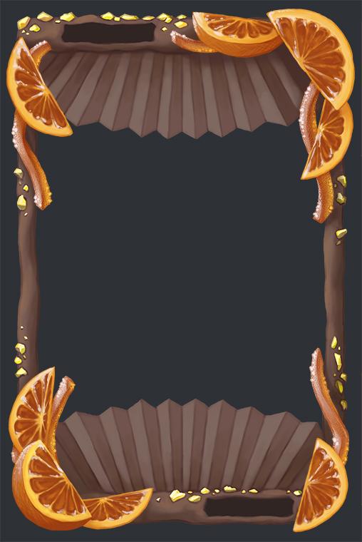 choco orange frame