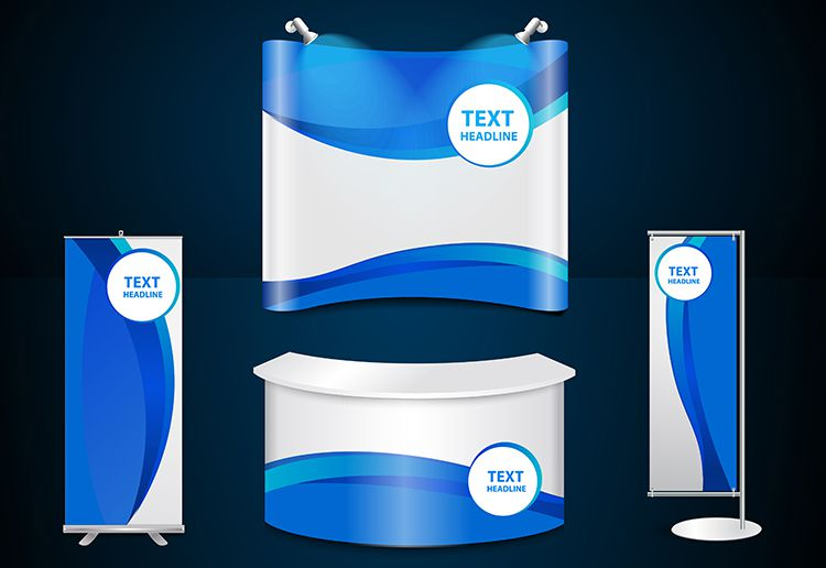 backdrop banner and stand