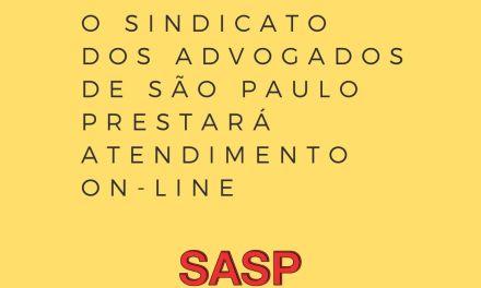 SASP prestará atendimento on-line