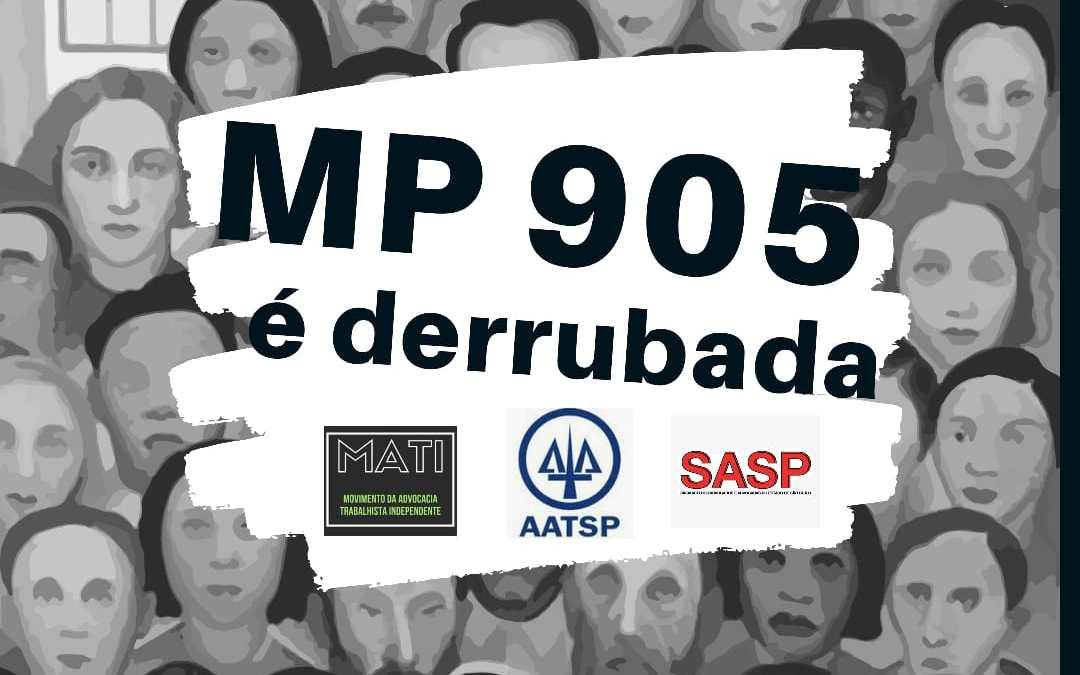 NOTA PÚBLICA SOBRE A DERRUBADA DA MP 905/19