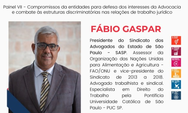Presidente do SASP participa de congresso interestadual sobre advocacia assalariada