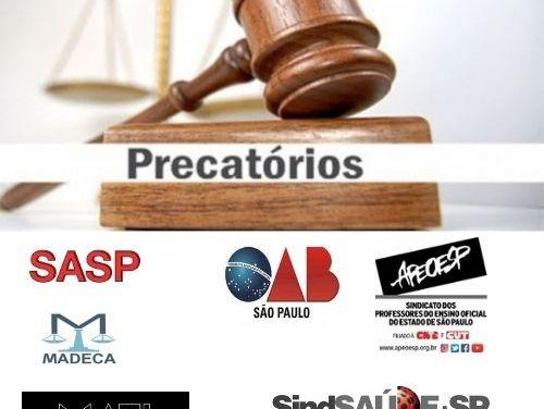 Entidades questionam TJ sobre extinção de precatórios, sem prévia intimação de advogados