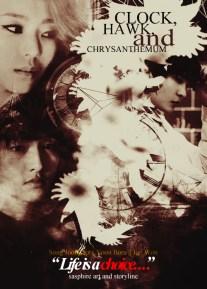 Clock, Hawk and Chrysantemum