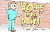Políticos e sujeira nas campanhas.