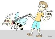 Prefeitura aplica multas nas casas onde forma encontrado focos da dengue.