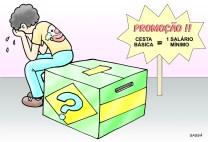 Preço da cesta básica reflete a crise financeira.