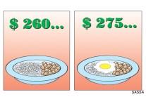 Salário sobe de R$ 260 para R$ 275