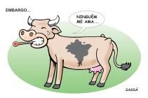 Embargo de carne brasileira.