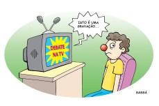 Debate na TV.