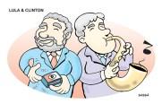 13 de março Lula e Bill Clinton.