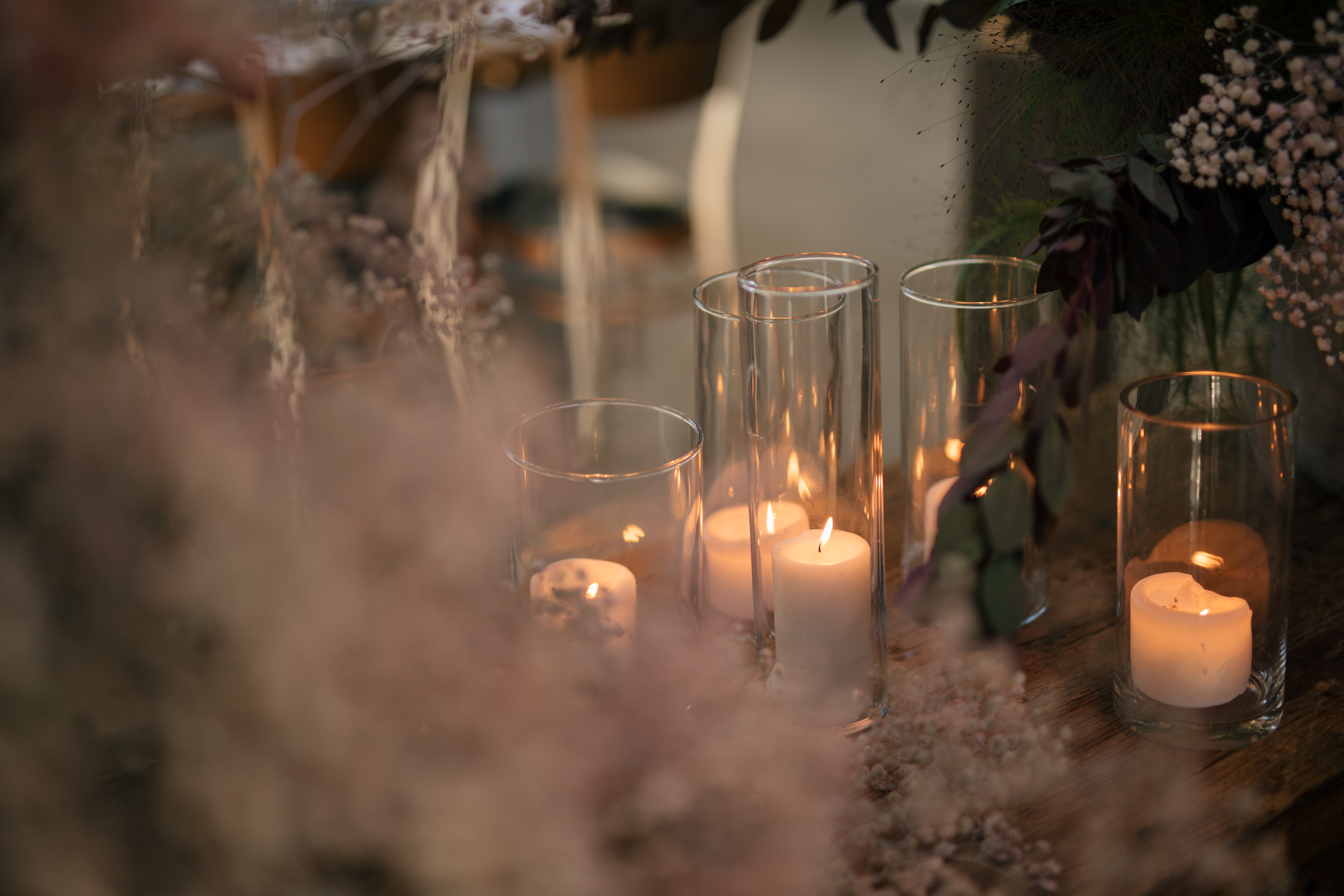 Modern tablescape at Stones of the Yarra Valley with candles