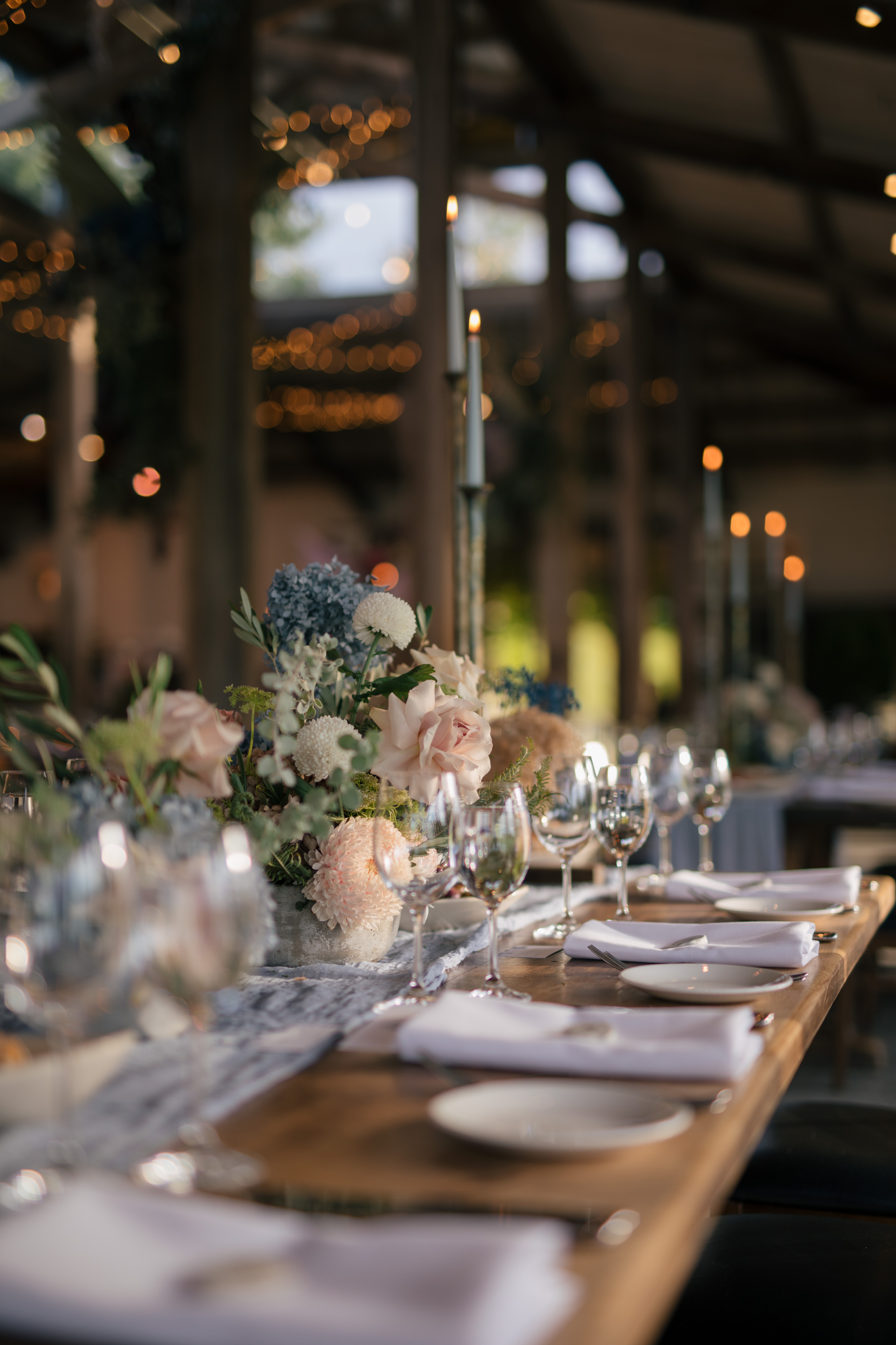 Modern tablescape at Stones of the Yarra Valley