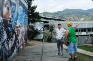 Visiting Comuna 13 with Ciro from Kolacho Hip Hop Collective, Medellín