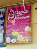 Halfway up the escalators in Comuna 13, Cremas caseras Consuelo - the best mango ice cream I've ever had.