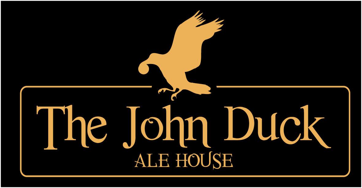 Logo and branding for John Duck pub in Durham