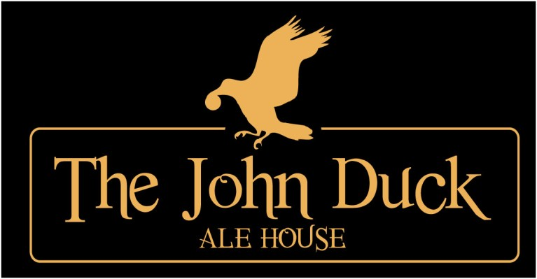 Logo and branding for John Duck pub in Durham