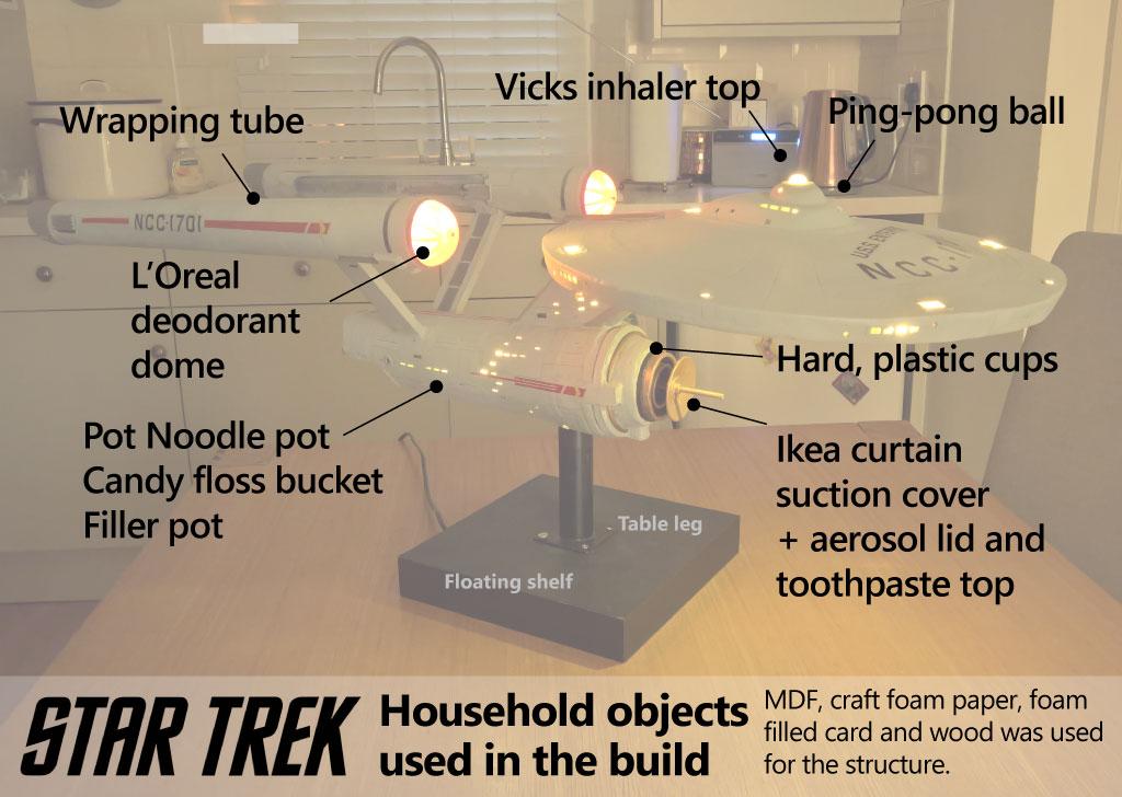 Star Trek Original Series USS Enterprise NCC 1701 scratch built model