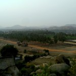 Elevated view of Hampi, Karnataka, India from Matanga Hill.