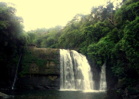 Jingmaham Falls, Meghalaya, India... frequented mostly by locals.