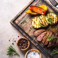 Recipe: Honey Lime Grilled Skirt Steak & Portobello Mushrooms