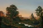 Ernst Ferdinand Oehme (1797–1855) Villa d'Este in Tivoli, 1833 Öl auf Leinwand, 57 x 85,5 cm Albertinum/Galerie Neue Meister, © SKD Foto: Ursula Maria Hoffmann