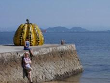Yellow Pumpkin by Yayoi Kusama in Naoshima