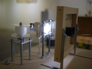 Moving devices by Junya Kataoka http://junyakataoka.main.jp/ — at Taipei Artist Village.